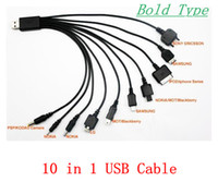 Wholesale 10 in Universal USB Charger Cable Multi Function Cell Phone Game USB Charging Line