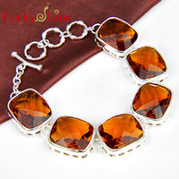 Link, Chain Mexican Women's 925 sterling silver natural braail citrine meaningful bracelet jewelry for girl wholesale B0911