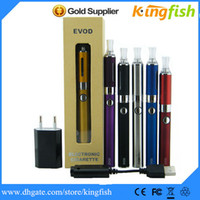 Single Black Metal Kingfish Ego Electronic Cigarette EVOD Gift box vaporizer pen e cigarette Kit EVOD Battery+2.4ml MT3 EVOD Atomizer ego cigarette vapor pen