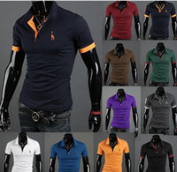 Wholesale man polo t shirt a Deer embroidery many colour for choose men tees shirts