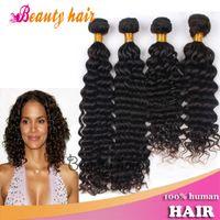 Deep Wave beauty products - 2014 Indian Human Deep Wave Hair Weaving Beauty Hair Products Bundles Mix Size Hot Virgin Natural Human Hair Weft Free Parting No Tangle