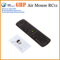 Wholesale Gyroscope Measy RC11 GHz Wireless DPI Optical Air Mouse Keyboard with Smart Android OS x AAA