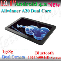 Wholesale Cheapest inch Allwinner A20 Tablet pc HD GB GB HDMI Ghz Dual Core Android dual camera capacitive screen tablet pc