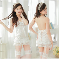 Wholesale Sexy Corset sexy lingerie sexy lingerie temptations temptations Pyjamas Ladies garter chest a file open without socks