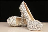 Wedding beautiful platform shoes - New Arrival Elegant Diamond Wedding Shoes Fashion Beautiful Crystal High Heels Glittering Platform Woman Pumps Banquet Prom Shoes