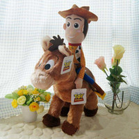 Wholesale Toy Story cm Woddy Ride on cm Red Star Horse Cartoon Plush Soft Toys Hot Sale