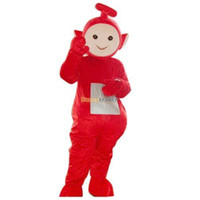 Wholesale Fancytrader Top Selling Red Teletubby Po Mascot Costume Teletubbies Mascot Costume Fancy Dress FT19993