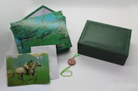 Wholesale Watchs Wooden Boxes Gift Box brand green Wooden Watchs case Men s Watches box leather Watchs Box