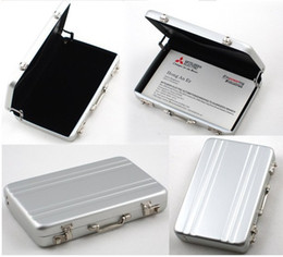 Wholesale silver ID Holders Password silver Aluminium Credit Mini Briefcase Business Card Case pc