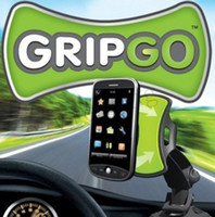 Wholesale TV GripGo Mobile Cell Phone Universal Car Phone GPS Navigation Holder windshield mount Grip Go By DHL