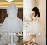 Real Photos Girl Beads Free Shipping Hot Sale child princess fish tail Flower girl dresses for wedding