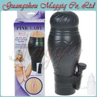 Realistic Vaginas Masturbators Non-toxic Soft Silicone,TPR Maggiq-136 Hot Sell Realistic Vaginal Design Pussy Fleshlight Vibration Masturbators Vibrating Sex Cup Adult Sex Toys for Man