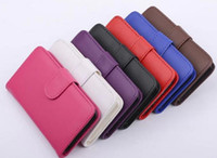 For Apple iPhone Leather White Flip Wallet PU Leather Cover Case Cases With Card Slots For iphone 5 5s 5C 4 4s samsung galaxy S2 S3 S4 s5 Note 2 3 leather case fast ship