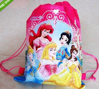 Wholesale 60 Princess drawstring cartoon backpack kids bag sport bag party gift