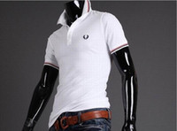 Cheap 2015 man fashion polos tshirts stand-up collar short-sleeved T-shirt polo top olive leaf male polo shirt 1410 B31