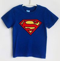 Wholesale Superman Kids Tshirts new t shirts for girls clothes Retail Boys tees Cotton dropship