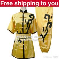 Wholesale Customize Chinese wushu uniform black clouds embroidery Kungfu clothing performance Martial arts men women children girl boy