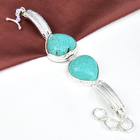 new arrival 925 silver fashion natural Turquoise bangle jewe...