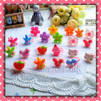Wholesale 50pcs Mix Children s Accessories Kids rings birthday Party gift Jewelry Baby rings
