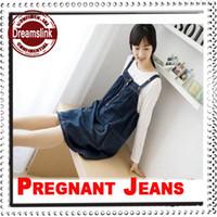 Summer Denim Washed Maternity Denim Skirt for Pregnant Women Jeans Dress Gravida Clothing Casual Vest Dresses for Spring