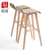 Wholesale Jane Wood Stools domain pastoral stool bar stool bar stool high chair leg legs reception special offer