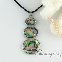 abalone shel - white oyster shel rainbow abalone Shell abalone pendants white rainbow oval necklaces mopl jewellery Hand made jewelry cheap necklace