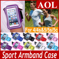 Wholesale Newest Universal Running Sports Sport GYM Armband Arm band Belt Pouch cover case skin for Iphone S S C Galaxy S5 S4 S3 Note