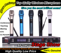 conference system - DHL Best Quality UHF Handheld Mic Professional x Wireless Microphone System For Teaching KTV DJ Karaoke Conference Meeting
