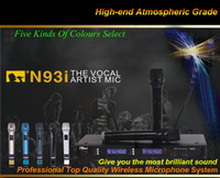 conference system - DHL Top Quality UHF N93i Handheld Mic Professional Wireless Microphone System For Teaching KTV DJ Karaoke Meeting Conference