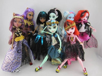 Wholesale New Monster High Dolls style set Fashion toys Popular Monster High Toys plastic girl gift dolls toys cartoon movie cute