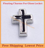 Charms Slides, Sliders Letters & Numbers 2014 new Fashion zinc alloy enamel black Silver cross charm origami owl floating charms for living glass lockets no locket FC340