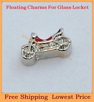 Wholesale new Silver Motorcycle origami owl floating charms for living glass lockets FC353