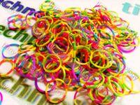rainbow loom rubber bands - Rainbow Loom Refill Rainbow Loom Rubber Bands TIE DYE Clips Refill Rainbow Loom Rubber Bands Necklace Bracelet Ring Hair Accessory