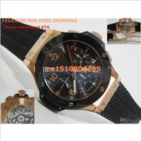 Men's eta swiss movement - AAA Top Quality Sport Mens Watch Sapphire Swiss Eta Automatic Movement Chronograph Work