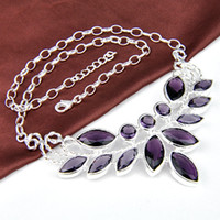 Wholesale gemstone amethyst necklace women jewelry for party N0510