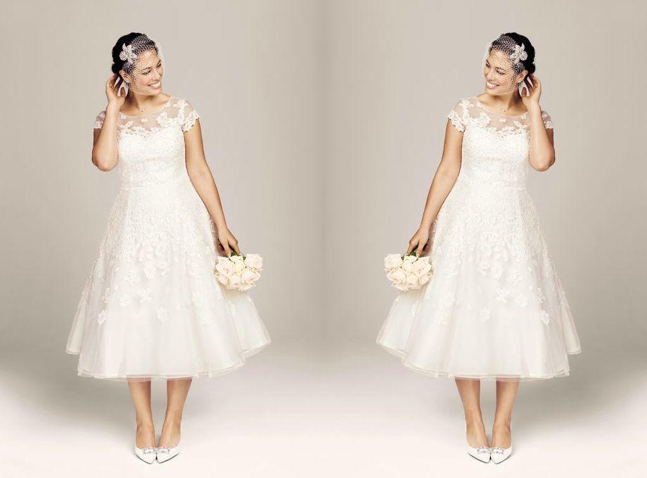 Wholesale Plus Size Tea Length Wedding Dresses - Buy Cheap Plus ...