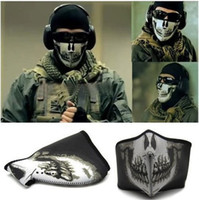 call of duty ghost - New high Quality Ghost Ski half a Face Mask For Call of duty Ghosts Protagonist seal tactics mask CS