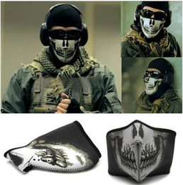Wholesale New high Quality Ghost Ski half a Face Mask For Call of duty Ghosts Protagonist seal tactics mask CS