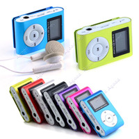Wholesale LCD Screen Metal Mini Clip on MP3 Player with Micro TF SD card Slot with Cable Earphone