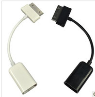Wholesale USB OTG Connection Kit Cable For Samsung Galaxy Tablet PC Tab P7500 P7510 P5100 Flash Disk Black White by DHL