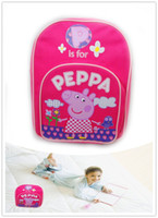 Backpacks Nylon Women Free shipping Warm gift Peppa Pig children's school bags backpacks little sister pink pig schoolbags