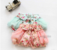 bubbles - 2014 Summer Korean Baby Girls Toddlers Kids Floral Big Butterfly Bow knot Lace Gauze Bubble Skirt Kids Tutu Shorts Elastic Short Pant F0201
