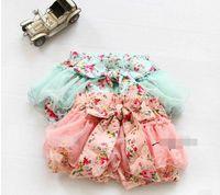 2014 Summer Korean Baby Girls Toddlers Kids Floral Big Butte...