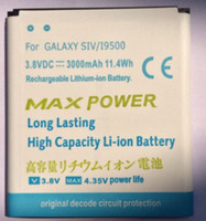 Wholesale New V mah Replacement battery for samsung Galaxy s4 i9500 SIV High quality replacement battery cell phone batteries Factory offer Now