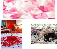 Fabric atificial flowers - 5000pcs Romantic Wedding Decorations Fashion Atificial Rose Flowers Polyester Wedding Rose Petals