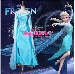 Wholesale New Arrival Frozen Elsa Dress Cosplay Costume For Halloween Party