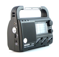 Wholesale DEGEN DE16 FM FML MW SW Crank Dynamo Solar Emergency Radio World Receiver A0901A