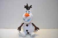 Unisex 3-4 Years Movies & TV Wholesale - Frozen Lovely OLAF the Snowman Plush Doll Stuffed Toy 25cm 20pcs L Free Shipping