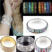 3 4 5 8 Rows Exquisite White Colorful Crystal Rhinestone Bri...