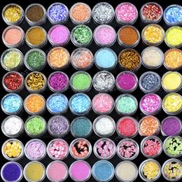 Wholesale New Nail Art Colors Acrylic UV Gel Glitter Powder Beads Decoration Kit Tip